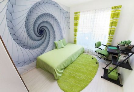 Wall mural wallpaper Abstract spiral design